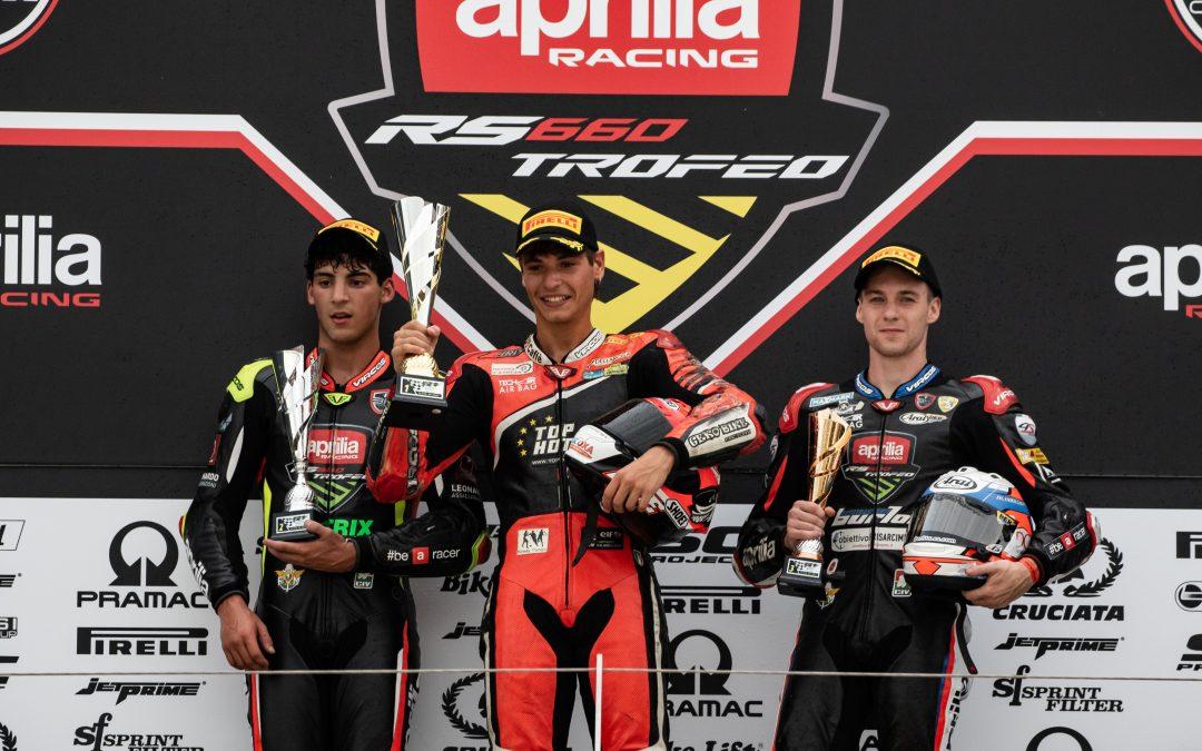 Doppia gara e doppio spettacolo per il Trofeo Aprilia RS660 a Misano