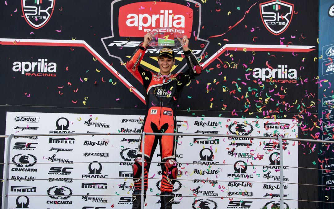 Alessandro Arcangeli è il primo Campione del Trofeo Aprilia RS660!